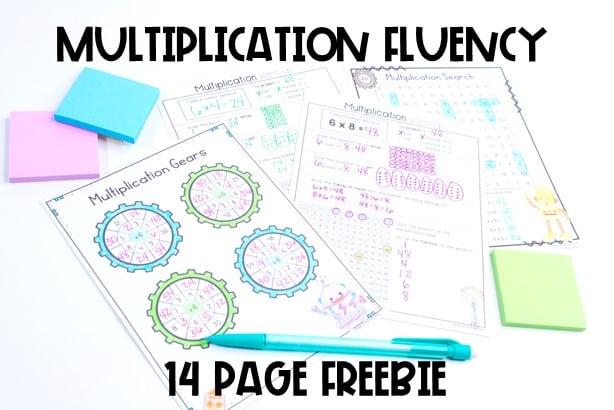 no prep multiplication activities