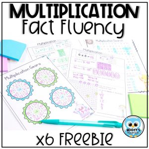 x6 multiplication fact fluency freebie