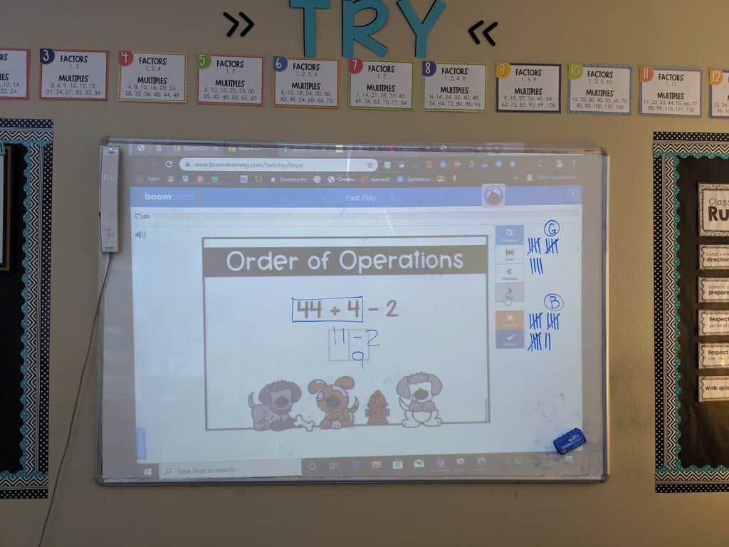 using digital task cards to play trashketball review game