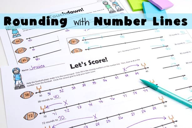 rounding to the nearest 10 and 100 using regular and open number lines