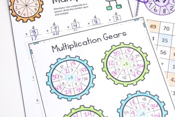 no prep multiplication activity