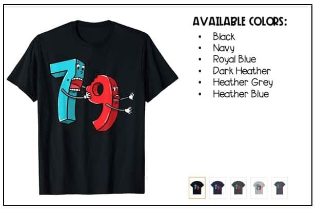 math pun shirt - 7 ate  9