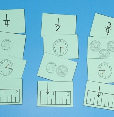 relating fractions to time, money, and rulers