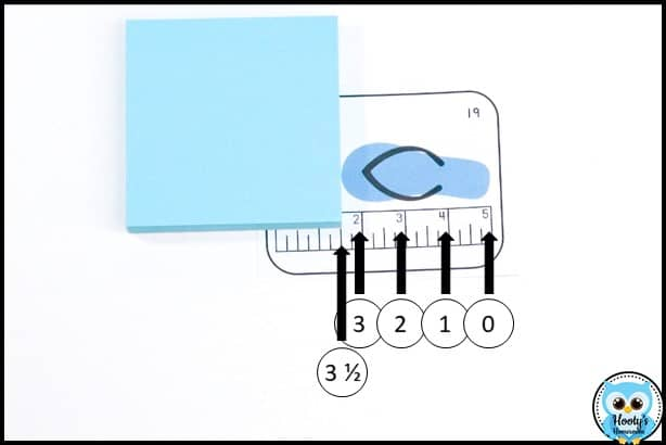 tip for teaching linear measurement