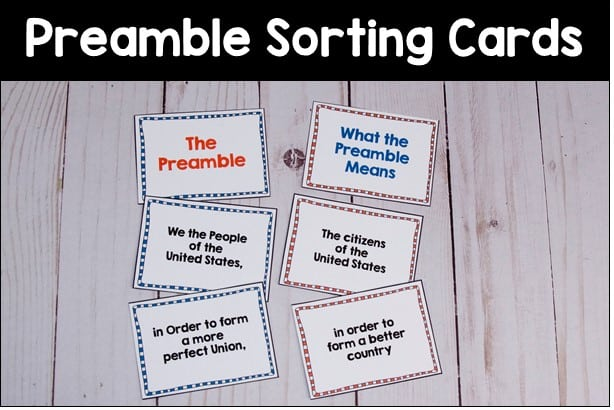preamble matching cards