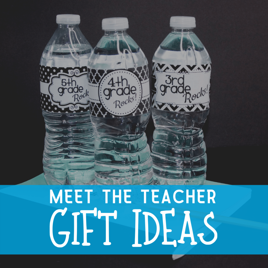 water bottles with back to school labels