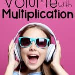 girl having fun listening to multiplication songs