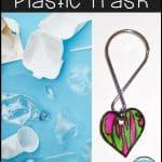 use trash to create a fun key chain craft