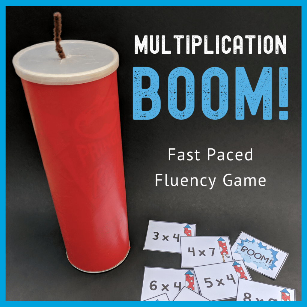 multiplication fluency game cards