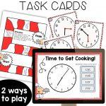 digital task cards, printable task cards, game board, student recording sheet