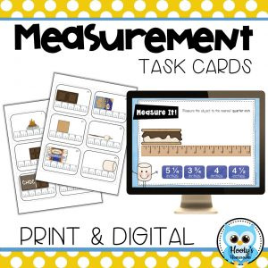 measuring to the quarter inch print and digital task cards