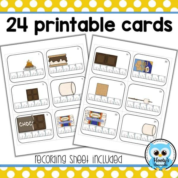 24 printable task cards for measuring to the quarter inch