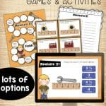 print and digital activities to keep students engaged while learning to measure to half inch