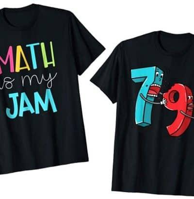 cute math shirts found on amazon.com