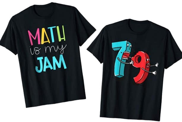 cute math shirts found on amazon.com