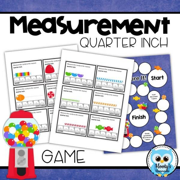 measure to the quarter inch game baord and cards