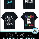 4 of my gavorite math shirts available on Amazon for less than $20