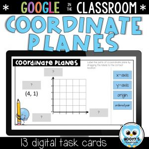 coordinate planes digital activities using google slides