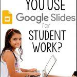 student working on laptop using google slides