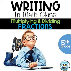 writing about multiplying and dividing fractions cover