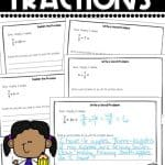student samples of fraction writing prompts