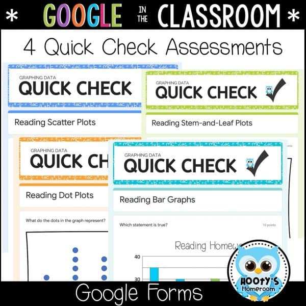 4 interpreting graphs quick check assessments in google forms