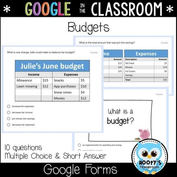 sample budget assessment questions
