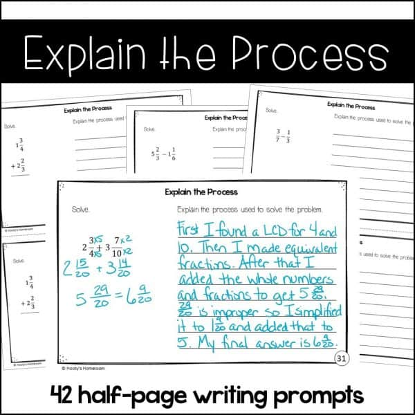 explain the process writing prompt sample