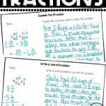 writing about fractions student samples