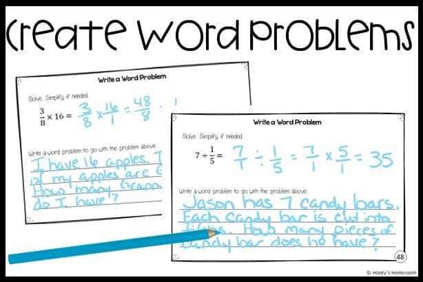 create a word problem student samples