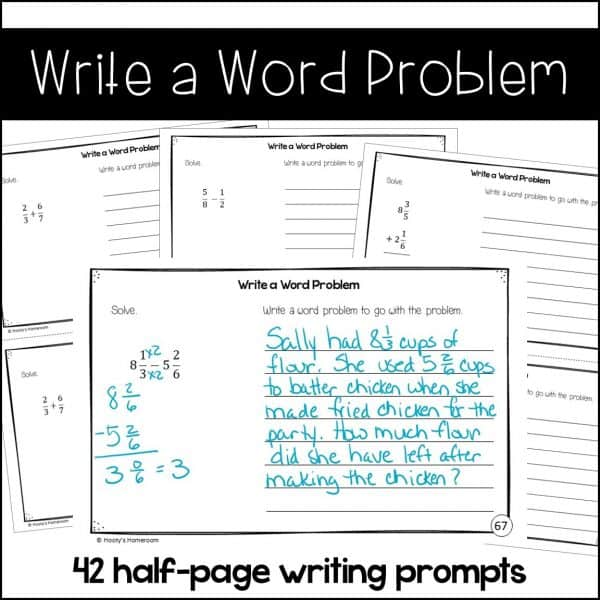 write a word problem writing sample