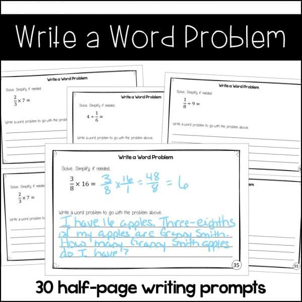 write a word problem samples