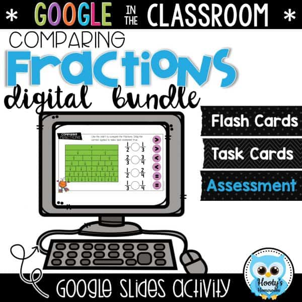 comparing fractions digital activity in Google Slides