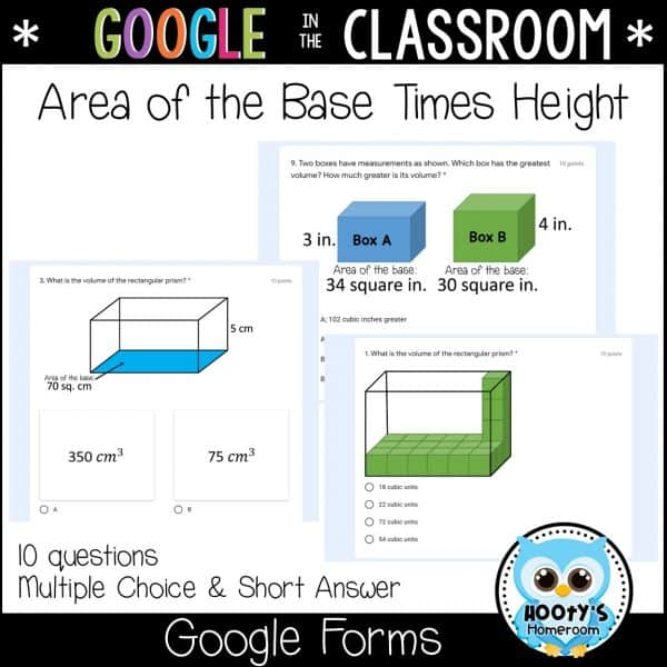 sample questions google forms volume quiz