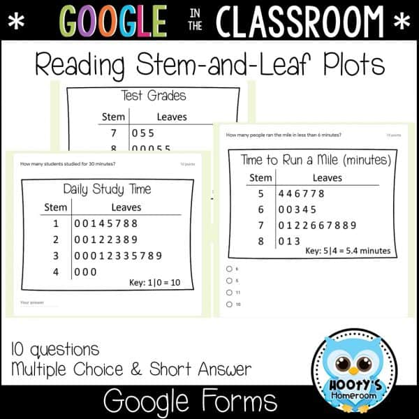 sample stem-and-leaf plot questions in google forms
