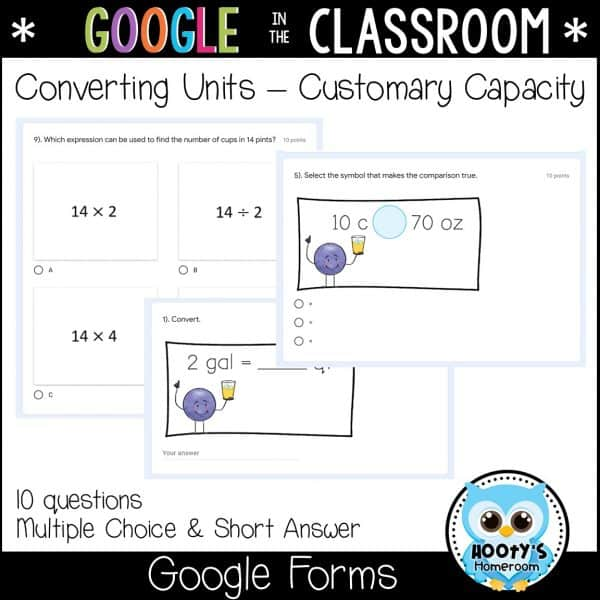 google forms customary capacity sample questions