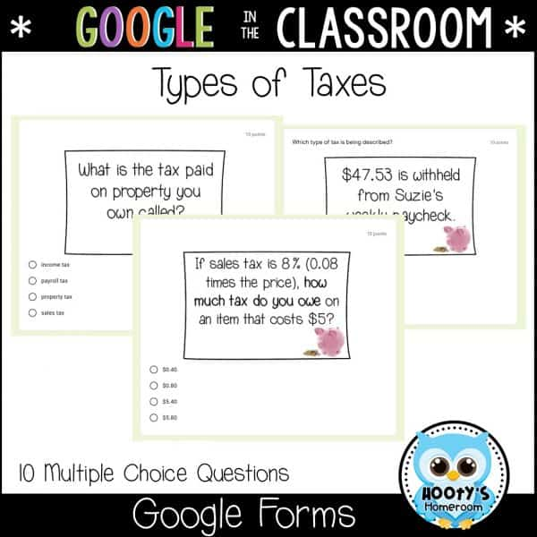 types of taxes sample questions