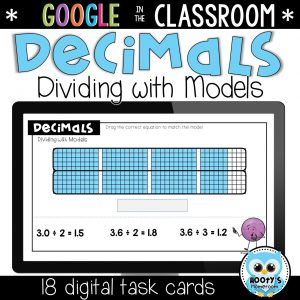 sample question from dividing decimals using models