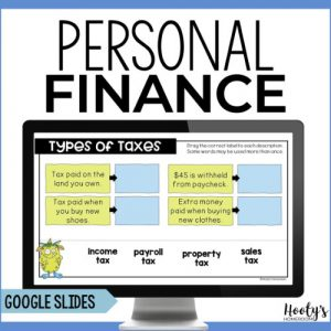 sample activity from personal finance literacy resource