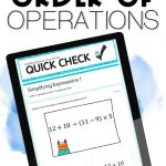 order of operations digital quick checks using google forms