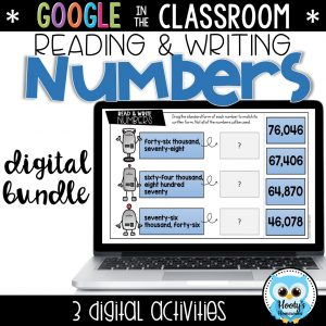 sample activity from reading and writing large numbers google slides