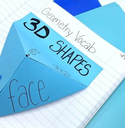 interactive geometry vocabulary for math journals and INB