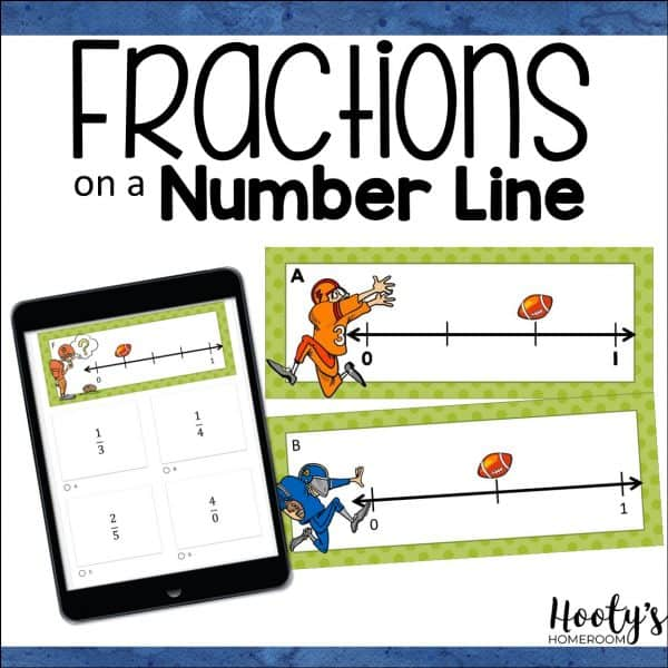fractions on a number line print and digital task cards