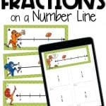 fractions on a number line print and digital task cards for distance learning