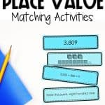 place value of larger numbers matching and sorting activities
