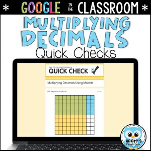 multiplying decimals quick check assessments using google forms