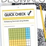 multiplying decimals distance learning using google forms
