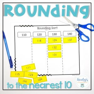 rounding to the nearest 10 sorting activity