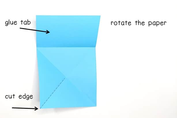 step 8 - rotate the paper so the rectangle is at the top of the interactive notes