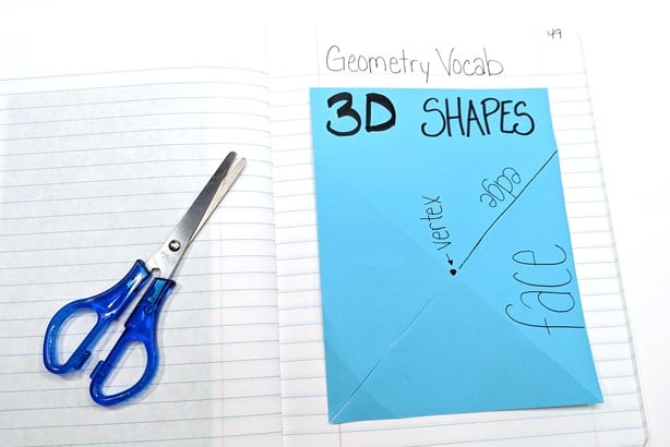 interactive geometry foldable laying flat in math journal